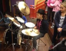 Übergabe eines Drum Sets an die Dieter Forte Gesamtschule in Düsseldorf