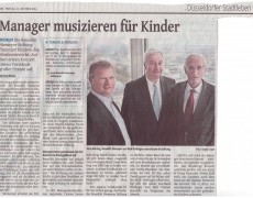 Die Westdeutsche Zeitung WZ berichtete – Manager musizieren für Kinder